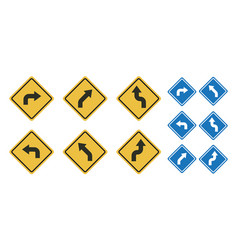 arrow road sign vector image