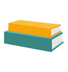 books stack horizontal stack vector image