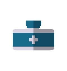 Bottle medical container wealth shadow vector
