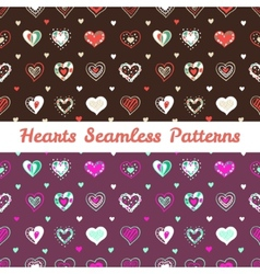 Bright hand drawn doodle hearts St Valentine Day vector