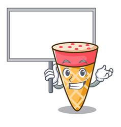 bring board ice cream tone character cartoon vector image
