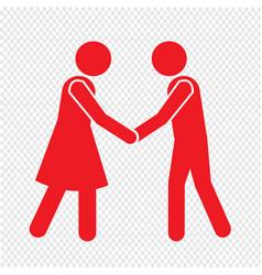 Business mans handshake icon design vector