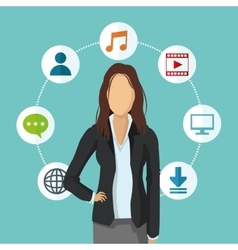 Businesswoman human resources icon graphic vector