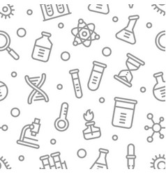 chemistry science laboratory outline vector image