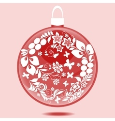 Christmas ball with ornament vector