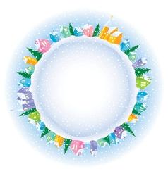 Christmas on Earth vector image