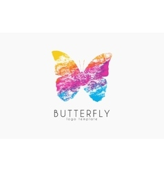 Colorful butterfly Butterfly logo Rainbow logo vector image