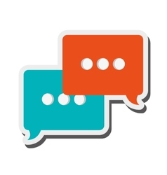 conversation bubble icon vector image