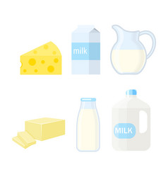 dairy products isolated on vector image