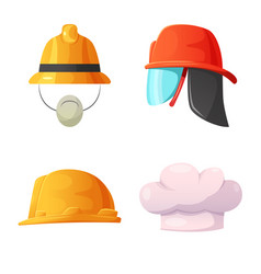 design of headgear and cap symbol vector image