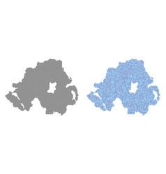 dot northern ireland map abstractions vector image