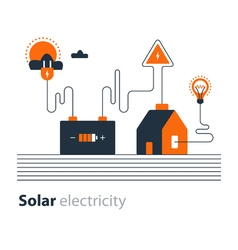 Electricity connection solar electrical supply vector image