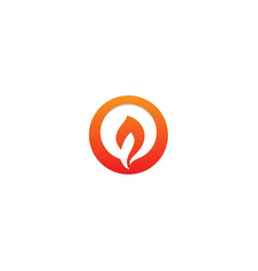 fire flame icon logo vector image