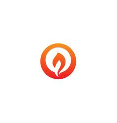 Fire flame icon logo vector