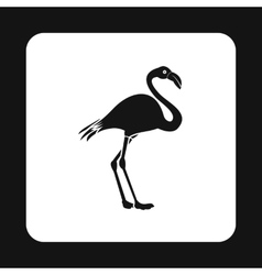 Flamingo icon simple style vector