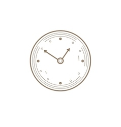 Flat Line watch Icon Creative vector