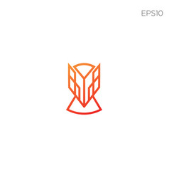 Fox line icon or logo business vector