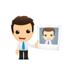 Funny cartoon office worker vector