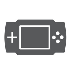 game console glyph icon electronic and device vector image