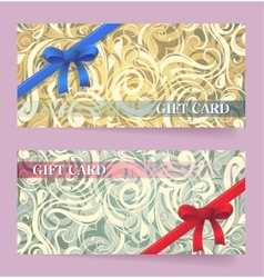 Gift card design vector