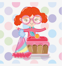 girl and sweet vector image