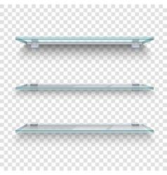Glass Shelves Transparent Background vector image