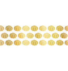golden pumpkins seamless border repeating vector image