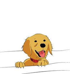 Golden Retriever puppy vector image