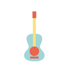 Guitar acoustic intrument of music player vector