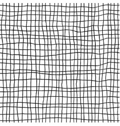 hand drawn checkered seamless pattern messy vector image