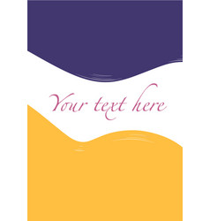 Hand drawn colored background for text violet vector