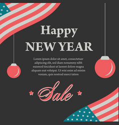 Happy new year vintage banner vector