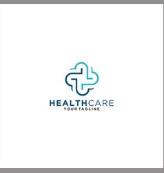 health medical center logo template design vector image