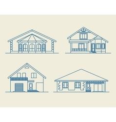 Houses linear 6 vector