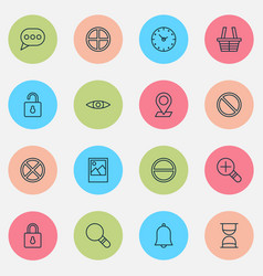 internet icons set collection of pinpoint vector image