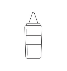 isolated ketchup bottle vector image