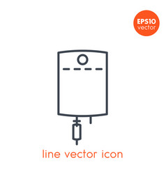 Iv bag line icon on white vector