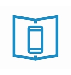 logo combination of a book and phone vector image