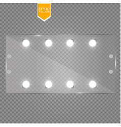 makeup mirror isolated with lights vector image