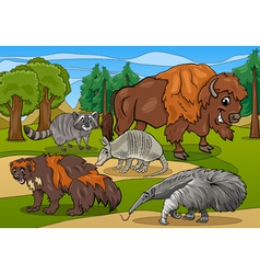 Mammals animals cartoon vector