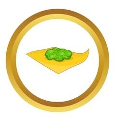 Marijuana on a paper icon vector