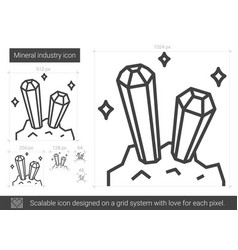 Mineral industry line icon vector