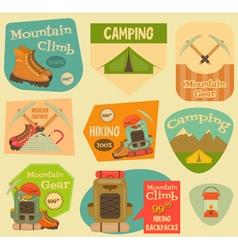 Mountain Climbing Stickers vector