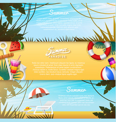 Nautical summer cards marine vacation on the vector
