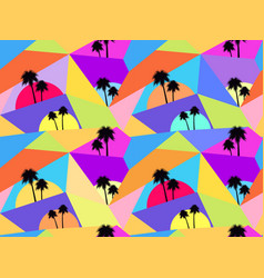 Palm trees seamless pattern avant-garde style vector