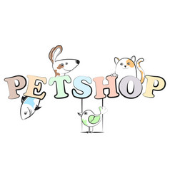 pet shop cheerful vector image