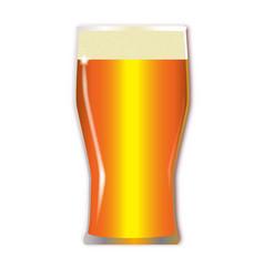 Pint lager glass vector