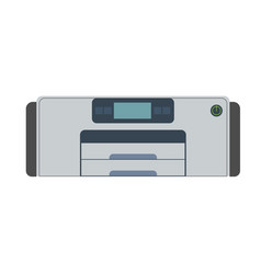 printer icon machine print office isolated paper vector image