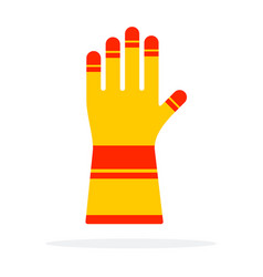 protective work glove flat isolated vector image