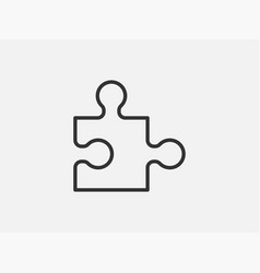 puzzle toy icon on white background line style vector image